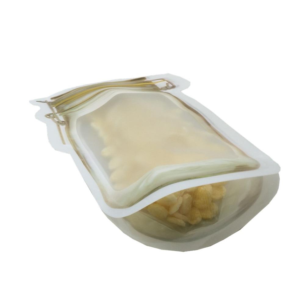 黄色自立磨砂梅森瓶袋 F