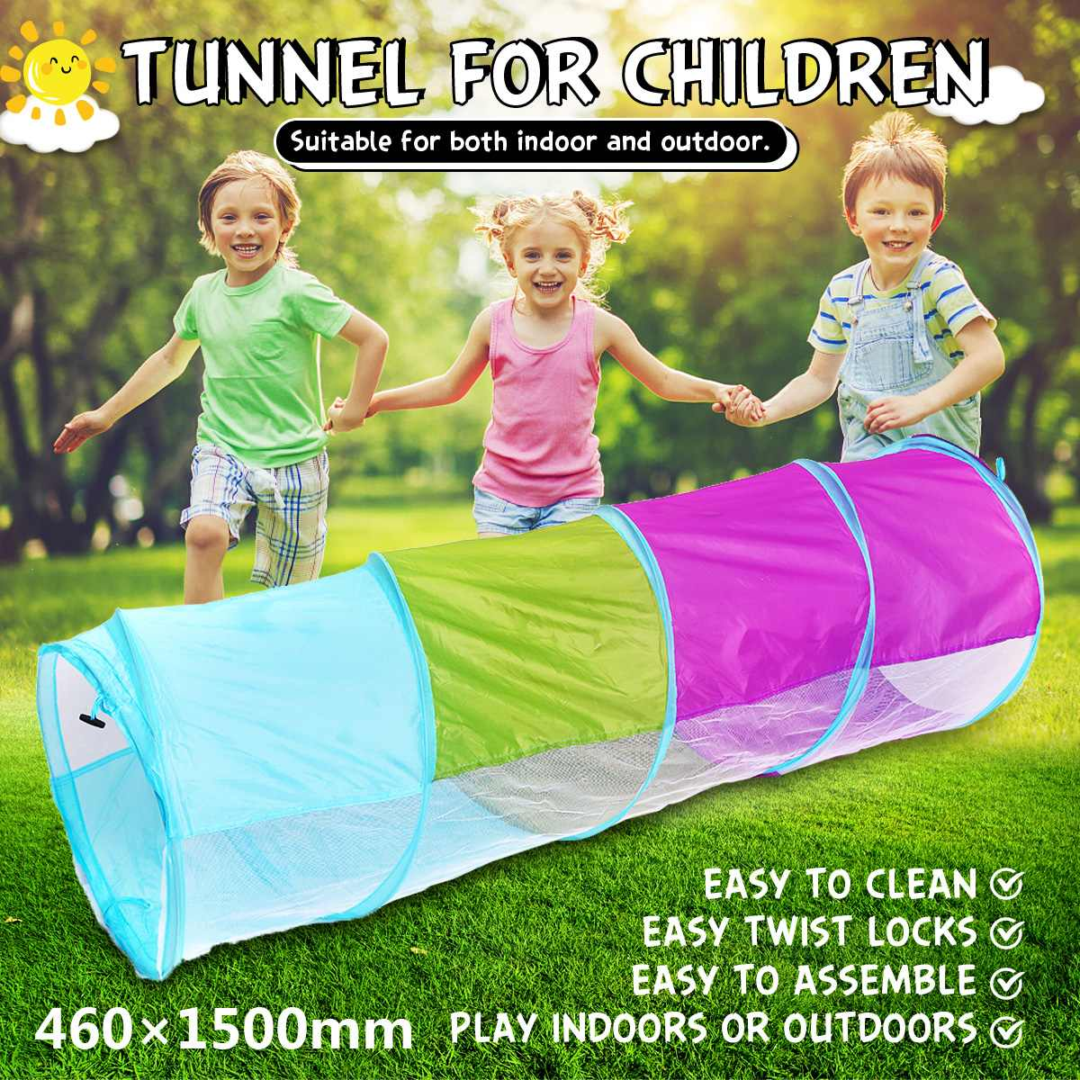 Portable Large Pool Tube Teepee Children Play Tent Children Tunnel Tents Ocean Balls Pool Pit Kids Play House Tent Crawling