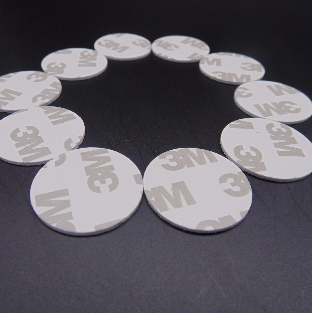 (10pcs/lot) RFID 13.56mHz 25mm UID Rewritable 3M Coin Block 0 Cards Tag For Copy Round Shape PVC Material