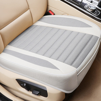 Ultra Luxury Car Seat Cover Single Seat Without Backrest Breathable Flax Auto Seat Protection For Most SUV|Automobiles Seat Covers| |  -