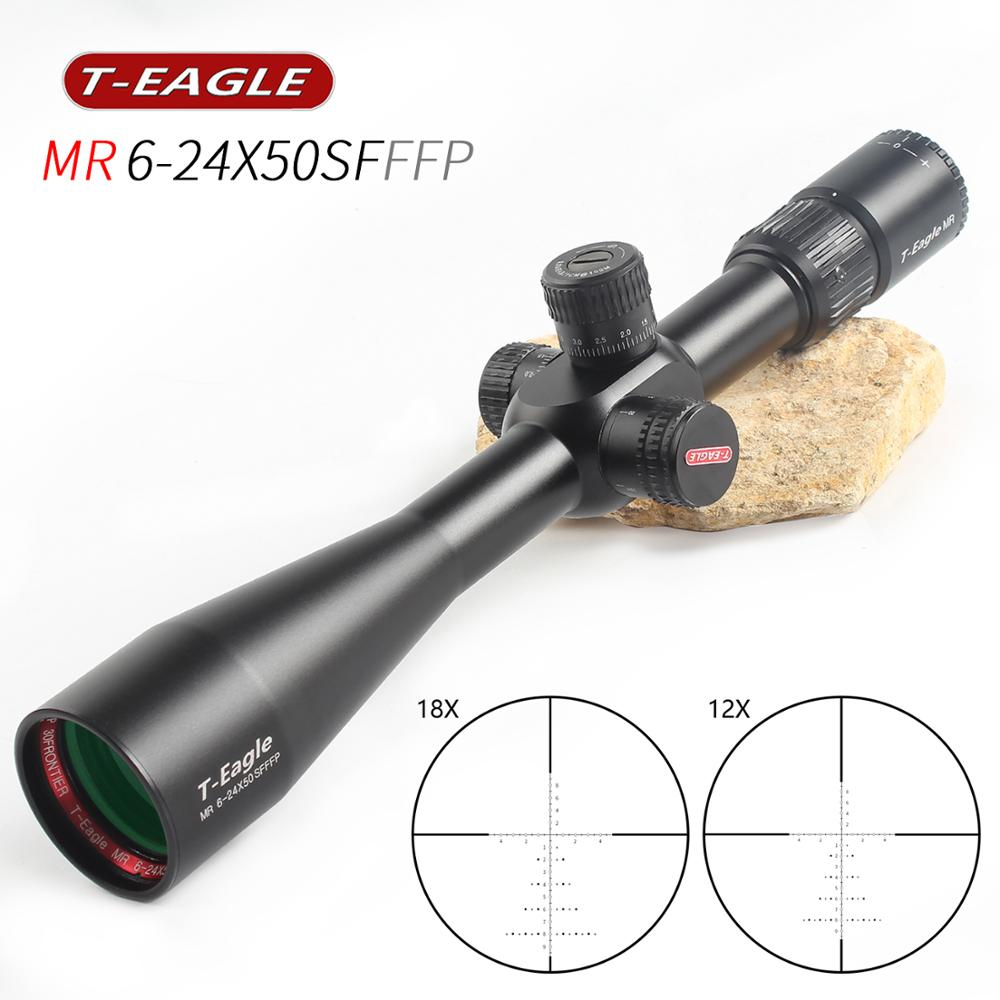 TEAGLE MR6-24x50 FFP  Optical Sight Side Parallax Hunting Riflescope With Mil Dot Reticle Tactical Rifle Scope Fit 308win