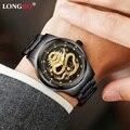 2020 männer Drache Skeleton Gold Männer Quarz Uhren Männlichen Luxus Marke Sport Wasserdichte Armbanduhr Masculino Dropshipping