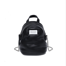 Caker Women PU Leather Black Large Chain School Bags For Girls Ladies Travel Backpack