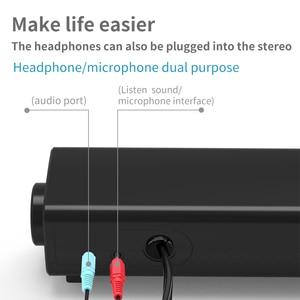 Image 4 - מחשב שולחני רמקול Wired קול בר סטריאו USB מופעל מיני Soundbar רמקולים למחשב נייד לוחות מחשב נייד מקרן