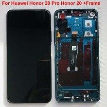 Pantalla LCD de montaje de digitalizador con pantalla táctil, piezas con Marco, 100% pulgadas, 6,26 Original, para Huawei Honor 20 Pro honor 20 YAL L21
