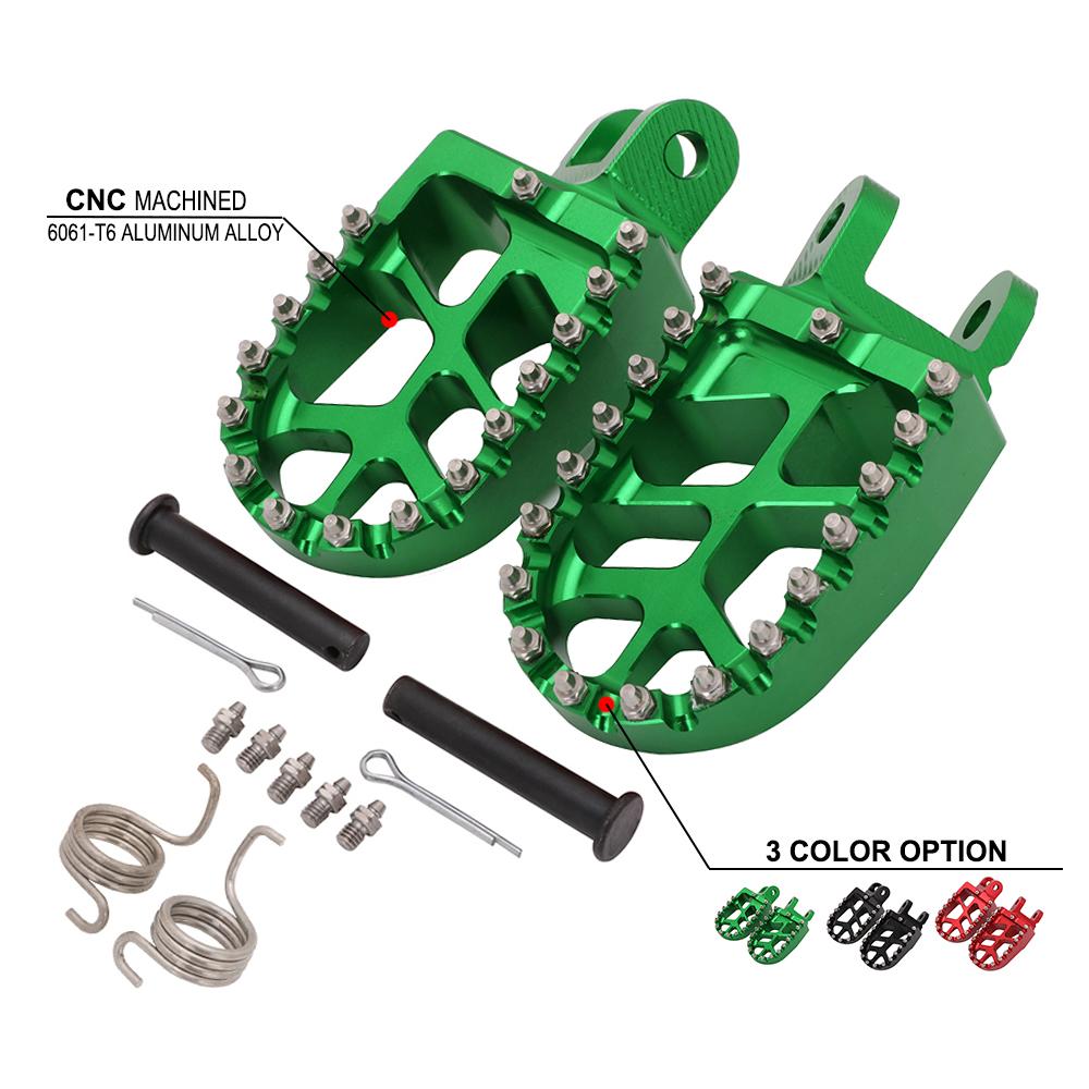 Motorcycle CNC Foot Pegs Pedals Rests Footpegs For KAWASAKI KLX250R KLX250 KLX250S KLX250SF KLX300R KLX650 KLX650R KLR650