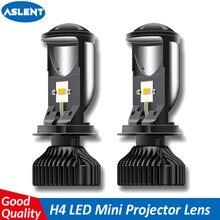 ASLENT H4 9003 LED מיני מקרן עדשת מאוורר רכב אוטומטי גבוה נמוך Beam טורבו LED פנס מנורת 12V 6000K 20000LM אור נורות RHD LHD