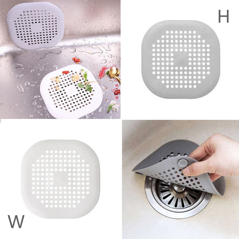 Kitchen Filter Shower Drain Square Drain Cover For Shower Drain Hair Extension Flat Silicone Plug Suitable For Bathroom