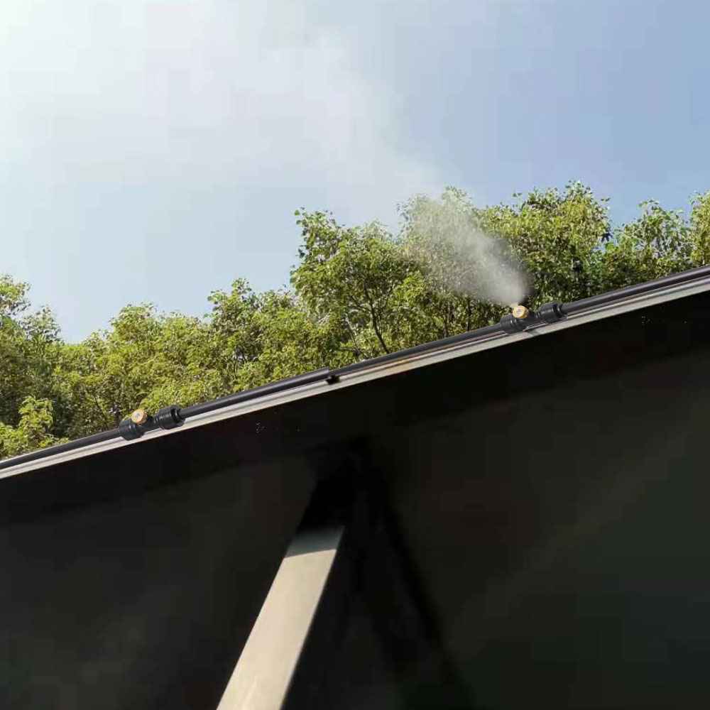 Распылитель с бесшумным насосом для наружного использования(источник воды из ведра
