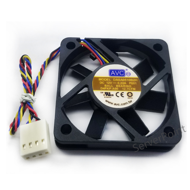 For DASA0510B2H 5010 12V 0.22A 5CM 50*50*10mm 4 Line PWM Temperature Control Silent Fan Free Shipping