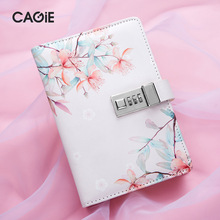 Simple with Lock Diary Kawaii PU Leather Password Notebook Travel Journal Note Book Luxury DIY Agenda Planner Organizer Notepad недорого