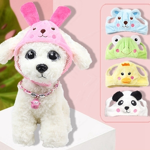 Cartoon Pet Dog Hat Cap Fashion Rabbit Ears Hat for Dogs Casual Fleece Cap for Dog Hat Chihuahua Yorkshire Teddy Hats Petshop(China)