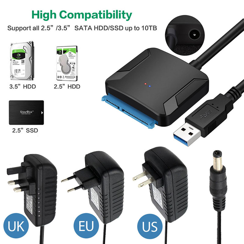 USB 3.0 SATA Cables Converter Male To 2.5 3.5 Inch HDD SSD Drive Wire Adapter Wired Convert Cables USB3.0 Hard Drive