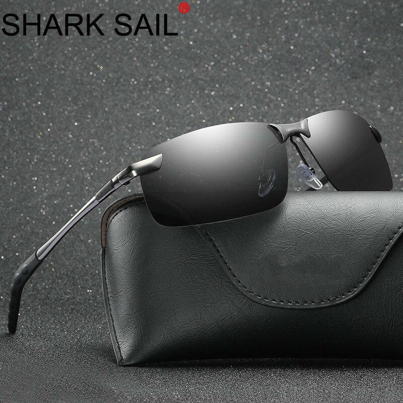 SHARK SAIL Mens Polarized Sunglasses Sports Outdoor Driving Sunglasses Men Metal Frame Sun Glasses Gafas De Sol Hombre Eyewear