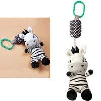 Baby Rassel Spielzeug Cartoon Zebra Säuglings Mobilen Tuch Spielzeug Baby Trolley Bett Windspiele Rasseln Glocke Krippe Hängen Glocke Befrieden spielzeug