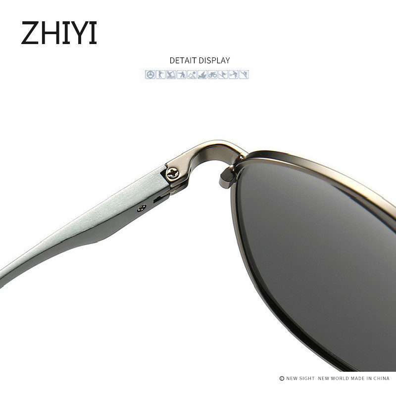 lowest price ZHIYI Brand Aluminum Polarized Yellow Night Driving Glasses Men Women HD Lens Anti-glaring Driver s Car Glasses Retro Sunglasses