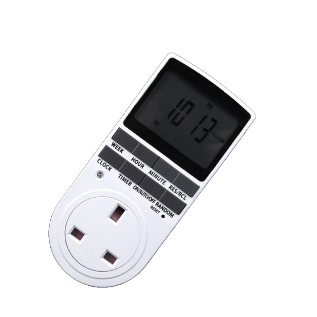 Programmable Digital Timer Switch Socket Electric Power Time Switch UK Plug/AU Plug/EU Plug