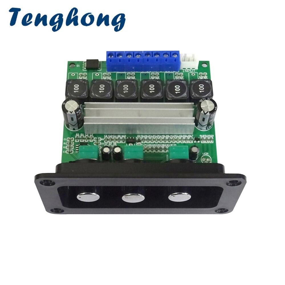 Tenghong TPA3116D2 2*50 Вт + 100 Вт 2,1 усилитель сабвуфера Аудио усилитель платы Цифровые усилители мощности с панелью DIY AMP