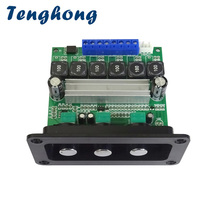 Tenghong TPA3116D2 2*50W + 100W 2.1 Subwoofer Amplificador Audio płyta wzmacniacza dźwięku cyfrowe wzmacniacze mocy z panelem DIY AMP