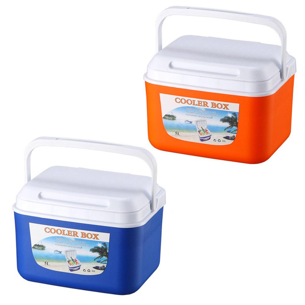 5L Outdoor Incubator Portable Food Storage Box Car Cold Ice Fishing Box Cooler Mini Fridge for Home Camping Traveling Pesca