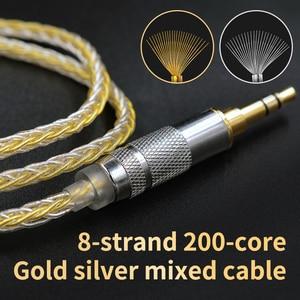 Image 4 - Kz 8 núcleo ouro prata misturado cabo com 2pin/mmcx conector uso para kz zs10 pro/zsn/zst/es4/zs10/as10/ba10/zsn pro