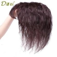 DIFEI волнистые кудрявые синтетические волосы на заколках для волос естественное закрытие бороды кукурузы с челкой для женщин части волос