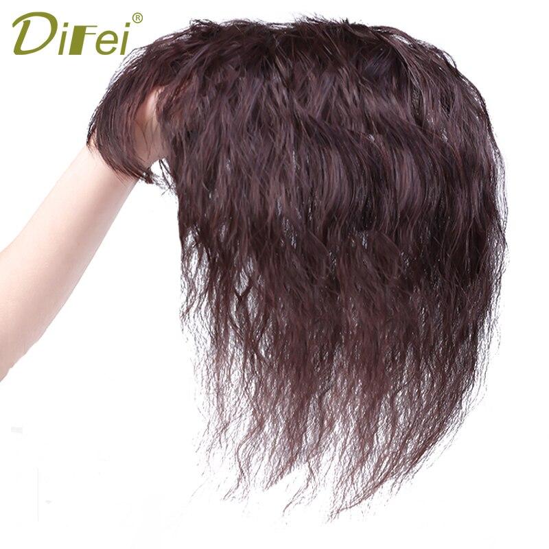 DIFEI волнистые кудрявые синтетические зажимы для волос кукурузная борода естественный цвет застежка с челкой для женщин части волос