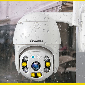 INQMEGA 1080P PTZ Auto Tracking Outdoor Dome Camera Cloud Storage Wireless Camera IP66 Waterproof Night Vision Full Color