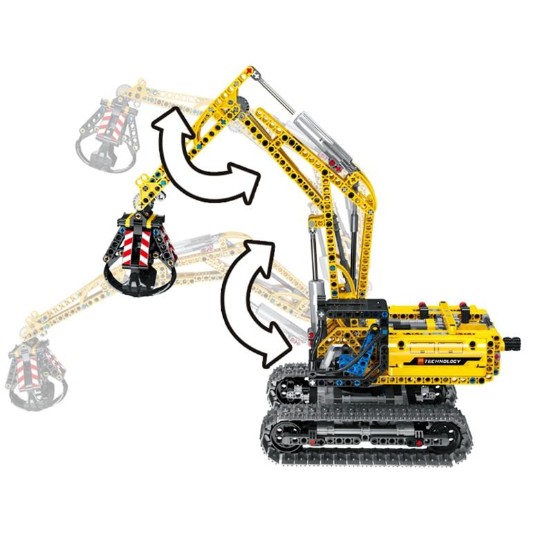 720pcs 2in1 Compatible Brand Technic Excavator car Model Building Blocks Brick Without Motors Set City Kids Toys for children