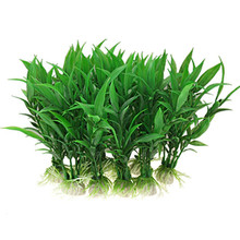 10Pcs Simulation Chinese Rich Bamboo Water Plant Aquarium Artificial Plants Fish Tank Lovely Home Decoration