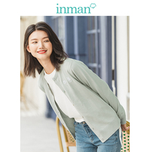 INMAN Spring Autumn Winter Embroidery O neck Solid Literary All Matched Women Cardigan