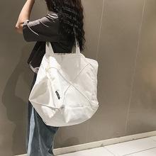 Prosta jednokolorowa jednokolorowa torba na ramię bardzo duża pojemność płócienna torba damska torba 2020 nowa koreańska moda damska torebka torba tanie tanio Wiadro Płótno CN (pochodzenie) Na co dzień Kieszeń na telefon komórkowy Wszechstronny Hasp WOMEN Na krzyż Ił kieszeń