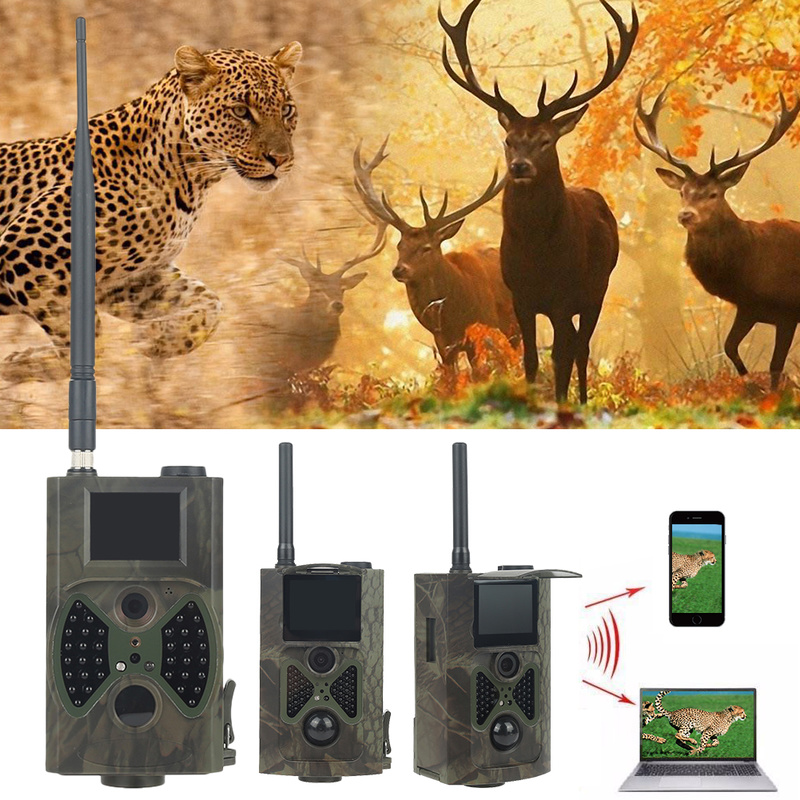 HC300M Hunting Camera GSM 12MP 1080P Photo Traps Night Vision Wildlife infrared Hunting Trail Cameras hunt Chasse scout