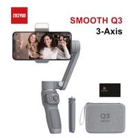 ZHIYUN السلس Q3 الهواتف الذكية يده استقرار Gimbal 3-محور مرنة Gimbal للهاتف آيفون شاومي هواوي سامسونج