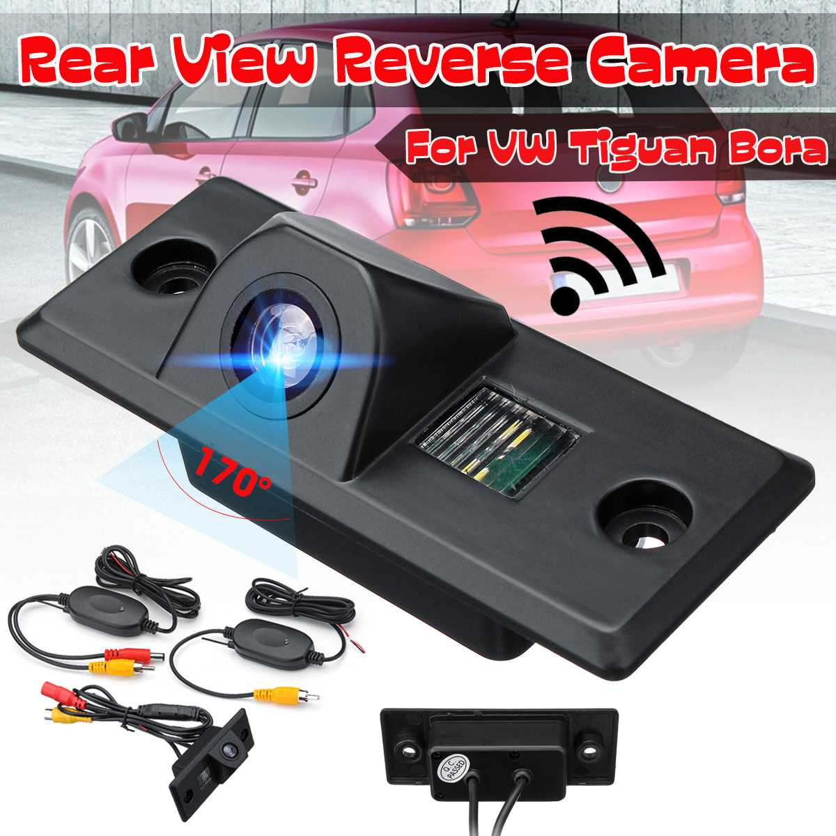 Car Wireless Rear View Reverse Parking Backup Camera For VW For Tiguan Bora For Porsche For Cayenne