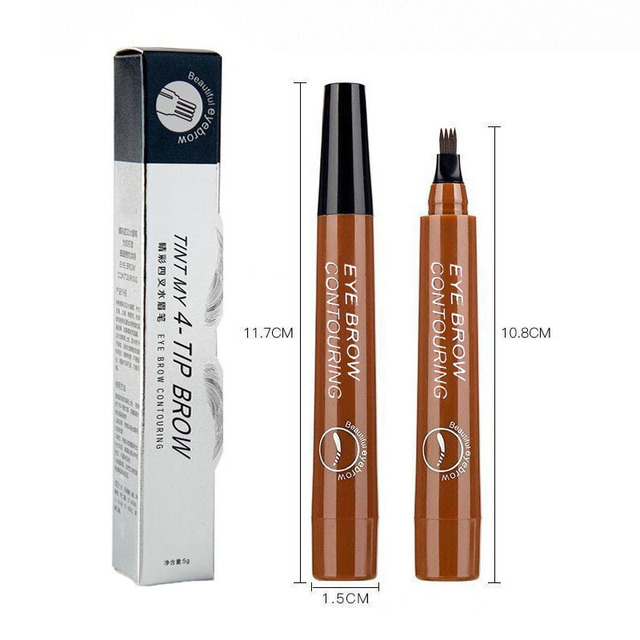 Microblading Eyebrow Pen Waterproof Fork Tip Eyebrow Tattoo Pencil Long Lasting Professional Fine Sketch Liquid Eye Brow Pencil 5