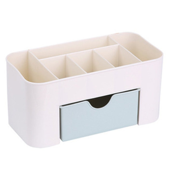 Desktop Makeup Organizer Plastic Storage Box Cosmetic Organizer Makeup Storage Case Cosmetics Holder Jewelry Box With Drawer drawer makeup organizer cosmetics storage box organizador maquillaje transparent plastic box lipstick jewelry display stand