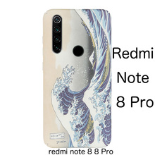 Art relief scrub Japanese Kanagawa wave Hard Shell case cover For XIAOMI redmi note 8 Pro redminote 8 case