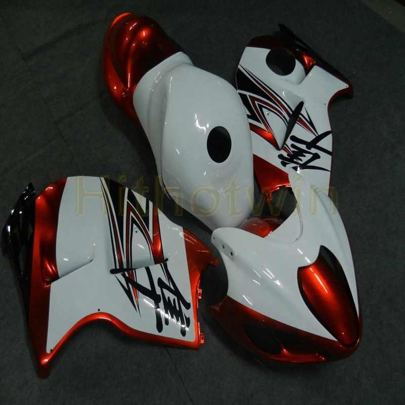 Изготовленный На Заказ orange + серебро пламя ABS Пластик Обтекатели для Suzuki GSX-R1300 1997-2007 год GSXR1300 97 98 99 00 01 02 03 04 05 06 07