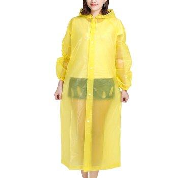 Fashion EVAAdult Rain Women Man Raincoat Poncho Non-Disposable Transparent Camping Raincoat Outdoor