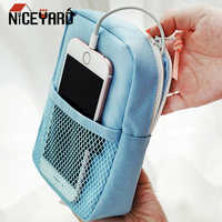 NICEYARD Travel Cable Bag Digital USB Cable Gadget Organizer Charger Wires Storage Bag Portable Power Bank Pouch Zipper