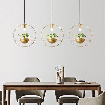 Copper geometric pendant light art decor Dining table hanging light interior house designer pendent lights fixtures