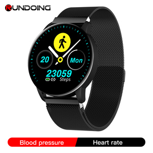 RUNDOING Q20 Women Smart watch Waterproof Blood pressure Heart rate monitor Ladies Men sport smartwatch for Android and IOS(China)
