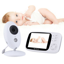 LOOZYKIT Video Monitor de bebé VB603 2,4G inalámbrico 3,2 pulgadas LCD 2 vías Audio hablar visión nocturna Video Nanny baba eletronica babyfoon(China)