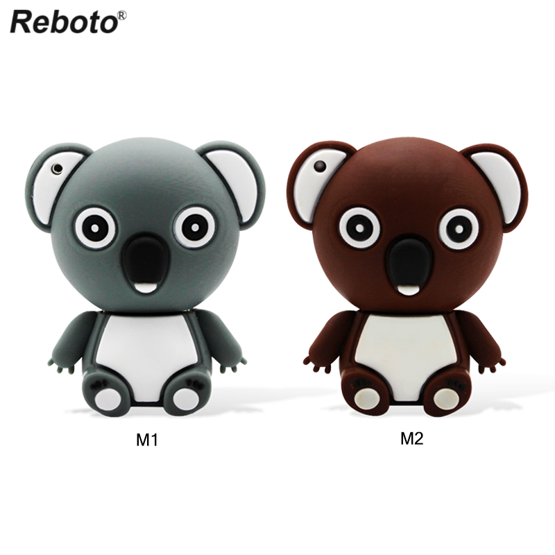 Niedlichen Tier <font><b>Koala</b></font> Bär USB Flash Drive 64GB <font><b>32GB</b></font> 16GB 8GB Memory Stick Reboto Cartoon-Stick U Disk Mini Flash Disk Für PC image