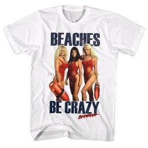 Baywatch plajlar olmak çılgın erkek T Shirt Pamela Anderson Yasmine Bleeth Gena Nolin