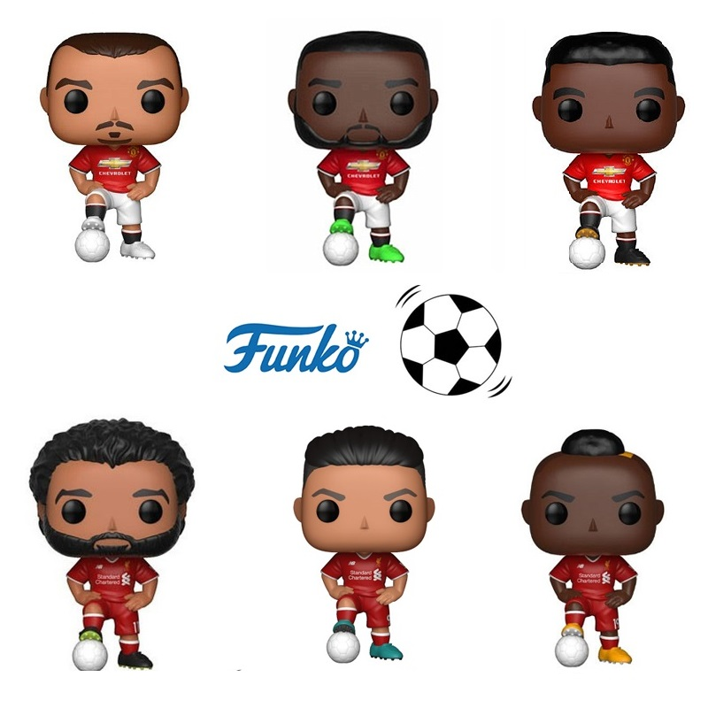 FUNKO POP Football Stars Roberto Firmino Mohamed Salah The Movie Vinyl Action & Toy Figures Collectible Model Toy for Children