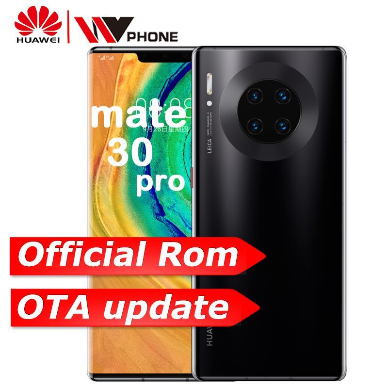 HUAWEI Mate 30 Pro Mobilephone 6.53 Inch Kirin 990 Octa Core Android 10 In-screen Gesture Sensor Google Play NFC