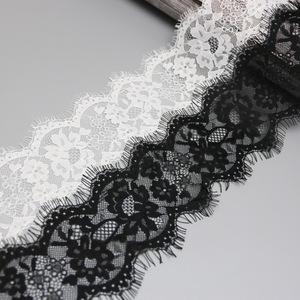 (3 meters/lot) 8cm White lace fabric Sewing Garment Ribbon Wedding Dress Fabric