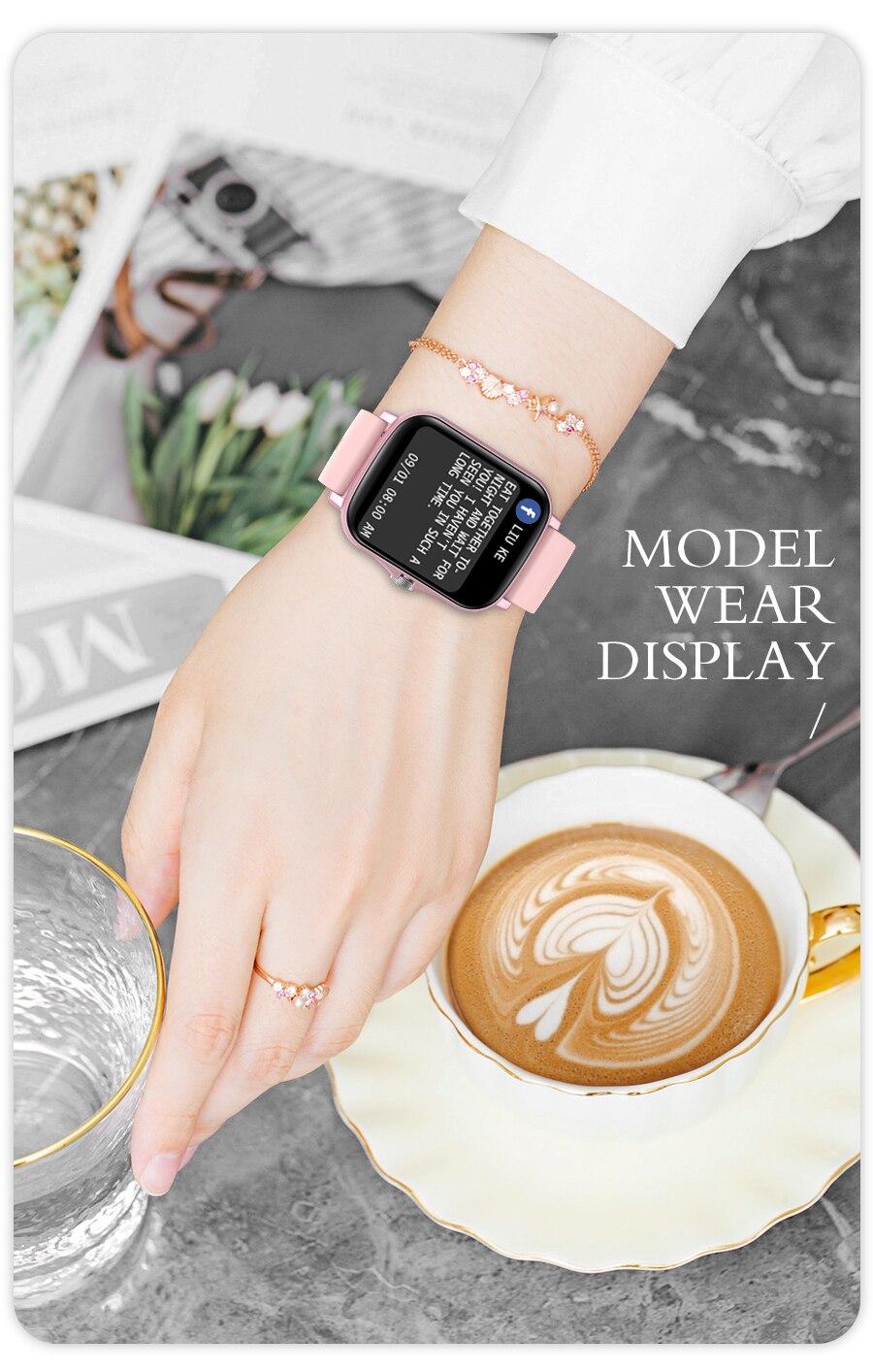 H8581eb78aed64b08a2edcaa11da37924r Full Touch Y20 Sport Smart Watch Men Women IP68 custom dial Heart Rate Fitness Tracker Smartwatch wristwatch GTS 2 P8 plus